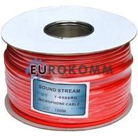 Микрофонный кабель Sound Stream 2x0.28 мм² OFC CU красный 100м