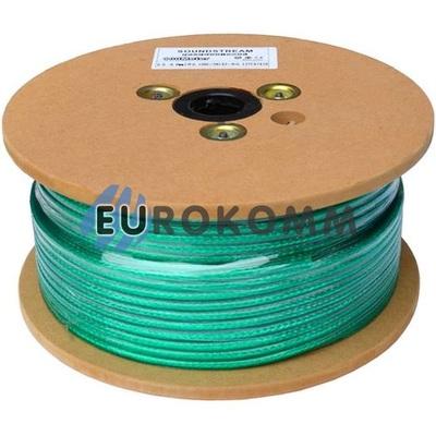 Микрофонный кабель Sound Stream 2x0.30 мм² OFC CU прозрачно-зеленый 100м