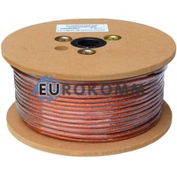 Микрофонный кабель Sound Stream 2x0.30 мм² OFC CU прозрачный 100м
