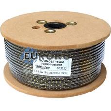 Микрофонный кабель Sound Stream 2x0.22 мм² OFC CU черно-золотистый в сетке 100м