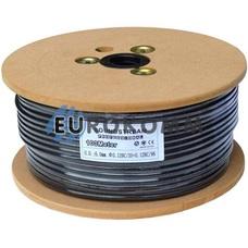 Микрофонный кабель Sound Stream 1x0.22 мм² OFC CU черный 100м