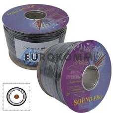 Микрофонный кабель Sound PRO JY-2099 1x0.14 мм² OFC CU черный 100м