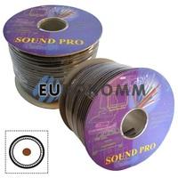 Микрофонный кабель Sound PRO JY-2064 1x0.22 мм² OFC CU черный 100м