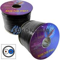 Микрофонный кабель Sound PRO JY-2066-S BK 2x0.22 мм² OFC CU черный 100м