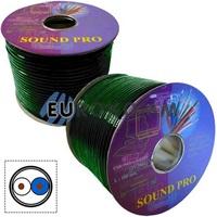 Микрофонный кабель Sound PRO JY-2066-S GN 2x0.22 мм² OFC CU зеленый 100м