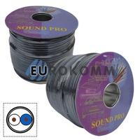 Микрофонный кабель Sound PRO JY-2066 BK 2x0.22 мм² OFC CU черный 100м