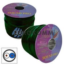 Микрофонный кабель Sound PRO JY-2066 GN 2x0.22 мм² OFC CU зеленый 100м
