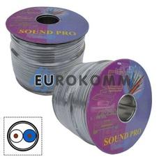 Микрофонный кабель Sound PRO JY-2066 GY 2x0.22 мм² OFC CU серый 100м