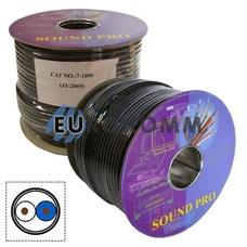 Микрофонный кабель Sound PRO JY-2069 2x0.50 мм² OFC CU черный 100м
