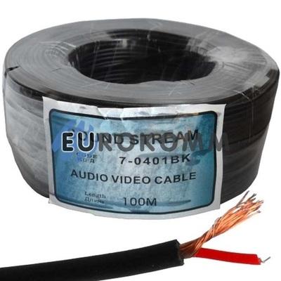 Кабель аудио-видео Sound Stream 1x0.11 мм² /26 OFC CU черный 100м