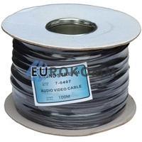 Кабель аудио-видео Sound Stream 2x0.22 мм² /45 OFC CU плоский черный 100м