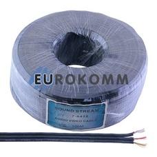 Кабель аудио-видео Sound Stream 3x0.09 мм² /20 OFC CU плоский черный 100м