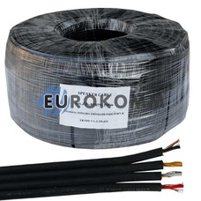 Кабель аудио-видео Sound Stream 4x0.11 мм² /16 OFC CU плоский черный 100м