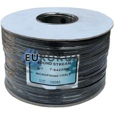 Кабель аудио-видео Sound Stream 4x0.11 мм² /28 OFC CU плоский черный 100м