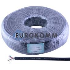 Кабель аудио-видео Sound Star 4x0.11 мм² /7 CU AL-Foil черный 100м