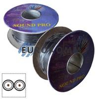 Кабель аудио-видео Sound PRO JY-1088x2C 2x0.11 мм² /30 OFC CU плоский черный 100м