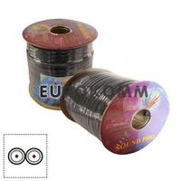 Кабель аудио-видео Sound PRO JY-1066 2x0.11 мм² /30 OFC CU плоский черный 100м