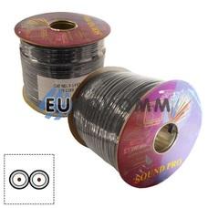 Кабель аудио-видео Sound PRO JY-1188 2x0.14 мм² /44 OFC CU плоский черный 100м