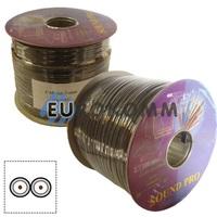 Кабель аудио-видео Sound PRO JY-8022 2x0.22 мм² /50 OFC CU плоский черный 100м