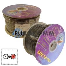 Кабель аудио-видео Sound PRO JY-8088 2x0.32 мм² +1x0,14мм² /112 OFC CU AL-Foil плоский черный 100м