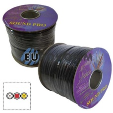 Кабель аудио-видео Sound PRO JY-1066-3 3x0.11 мм² /30 OFC CU плоский черный 100м