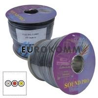 Кабель аудио-видео Sound PRO JY-2040-3 3x0.22 мм² /44 OFC CU плоский черный 100м