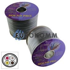 Кабель аудио-видео Sound PRO JY-1166 4x0.14 мм² /40 OFC CU черный 100м