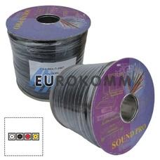 Кабель аудио-видео Sound PRO JY-1199 4x0.14 мм² /34 OFC CU плоский черный 100м