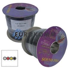 Кабель аудио-видео Sound PRO JY-1066-4 4x0.11 мм² /30 OFC CU плоский черный 100м