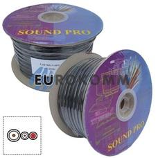 Кабель аудио-видео Sound PRO JY-5920 1x34 мм² + 2x0.22 мм² /112/50 OFC CU плоский черный 100м