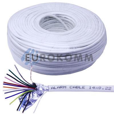 Сигнальный кабель 14х0.22 CU в экране 100м