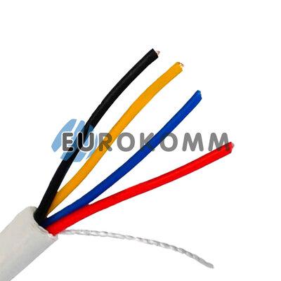 Сигнальный кабель 4х0.22 CU без экрана белый 25м