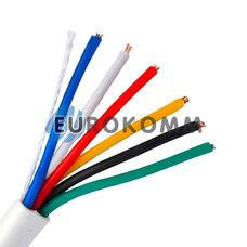 Сигнальный кабель 6х0.22 CU без экрана белый 25м