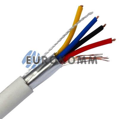 Сигнальный кабель 6х0.22 CCA в экране белый 25м