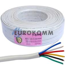 Сигнальный кабель 6х0.22 CU без экрана 100м