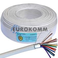 Сигнальный кабель 12х0.22 CCA в экране 100м