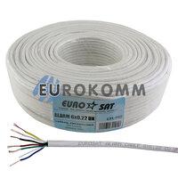 Сигнальный кабель EUROSAT 6x0.22 CU без экрана белый 100м