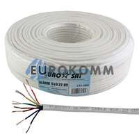 Сигнальный кабель EUROSAT 8x0.22 CU без экрана белый 100м
