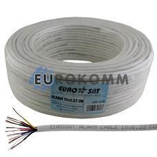 Сигнальный кабель EUROSAT 10x0.22 CU без экрана белый 100м