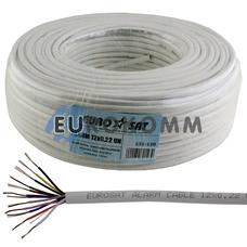 Сигнальный кабель EUROSAT 12x0.22 CU без экрана белый 100м