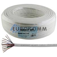 Сигнальный кабель EUROSAT 14x0.22 CU без экрана белый 100м