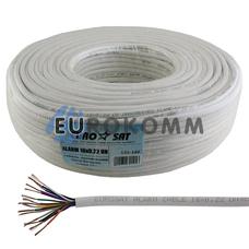 Сигнальный кабель EUROSAT 16x0.22 CU без экрана белый 100м