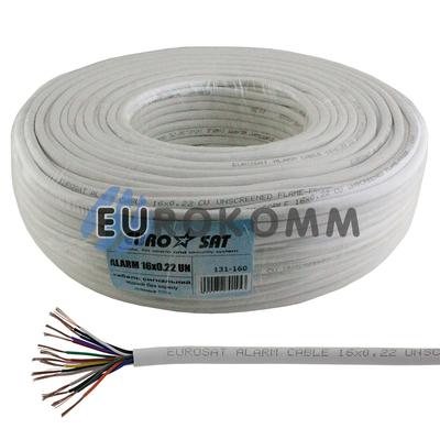 Сигнальный кабель EUROSAT 16x0.22 CU без экрана белый