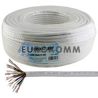 Сигнальный кабель EUROSAT 20x0.22 CU без экрана белый 100м