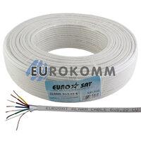 Сигнальный кабель EUROSAT 6x0.22 CU в экране белый 100м