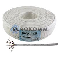 Сигнальный кабель EUROSAT 8x0.22 CU в экране белый 100м