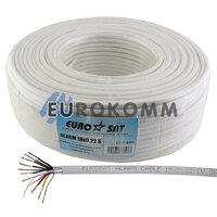 Сигнальный кабель EUROSAT 10x0.22 CU в экране белый 100м