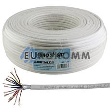 Сигнальный кабель EUROSAT 12x0.22 CU в экране белый 100м