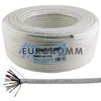 Сигнальный кабель EUROSAT 14x0.22 CU в экране белый 100м