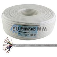 Сигнальный кабель EUROSAT 16x0.22 CU в экране белый 100м